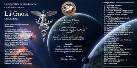 Corso di Meditazione e GNOSI: La Gnosi Universale - Ottobre 2019 - Firenze biglietti