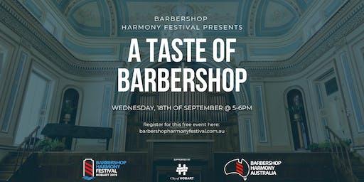 BHF - A Taste of Barbershop -  FREE Concert
