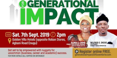 FIRED UP FOR GENERATIONAL IMPACT tickets