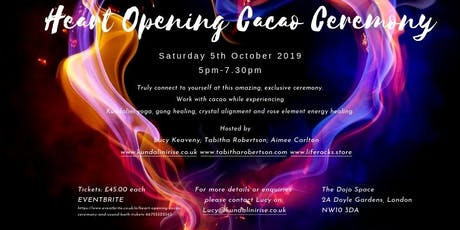 HEART OPENING CACAO CEREMONY AND SOUND BATH. tickets