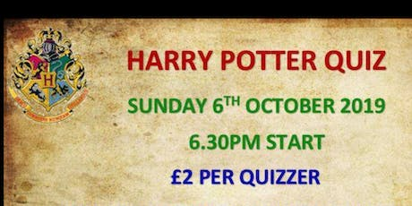 Harry Potter Quiz tickets