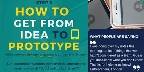 Workshop - How to get from idea to prototype: Design, visualise & test your MVP tickets