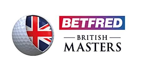 Betfred British Masters Hospitality 2020 tickets