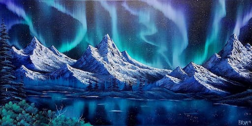 $29 SPECIAL / 420 Friendly Northern Lights Painting Class / Use Code 420