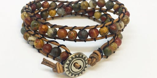 Leather and Bead Wrap Bracelets