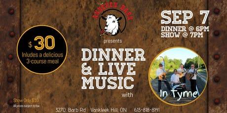 Dinner & Live Music with In Tyme tickets