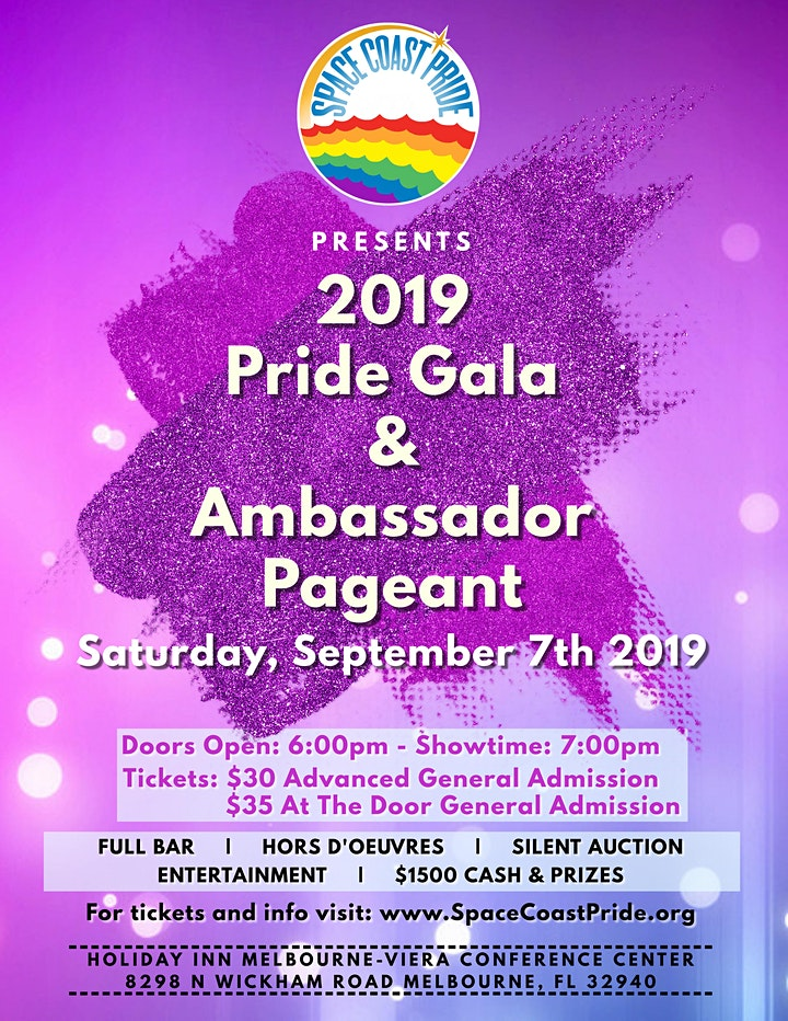 2019 Space Coast Pride Gala & Ambassador Pageant image