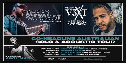 Danny Worsnop & Tommy Vext VIP UPGRADE - Melbourne (21/12 All Ages)