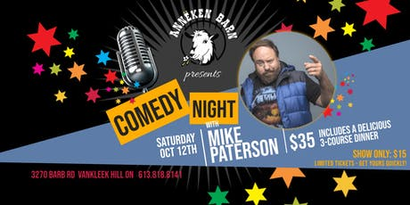 Comedy Night with MIKE PATERSON - Dinner & Show tickets