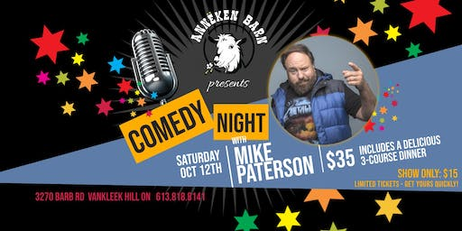 Comedy Night with MIKE PATERSON - Dinner & Show