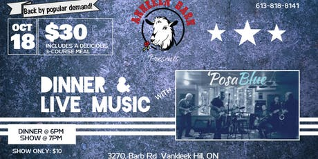 Dinner & Live Music with 'POSABLUE tickets