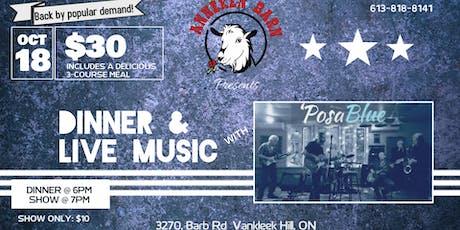 Dinner & Live Music with 'POSABLUE billets