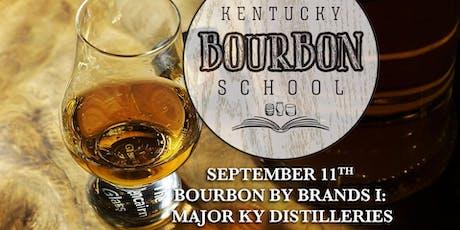 Bourbon by Brands I: Major Kentucky Distilleries • SEPT 11 • KY Bourbon School (was Bourbon University) @ The Kentucky Castle tickets