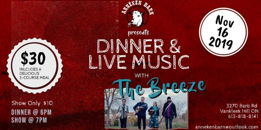 Dinner & Live Music with THE BREEZE