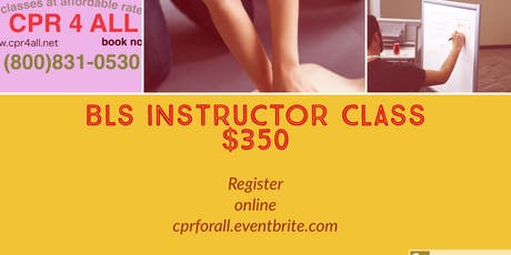 Cpr4all American Heart Association CPR/BLS Instructor Course tickets