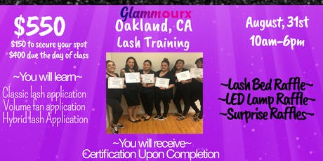 Glammourx Lash Training  tickets
