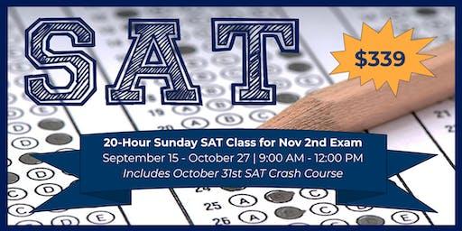20-Hour Sunday SAT Class for Nov 2nd Exam