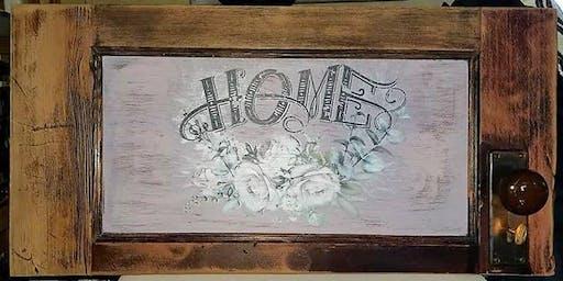 Create a Custom Work of Art on Reclaimed Wood