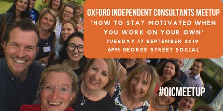Oxford Independent Consultants Meetup September 2019 tickets