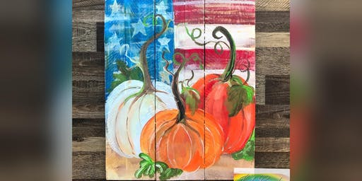 Patriotic Pumpkins: Glen Burnie, Sidelines with Artist Katie Detrich!