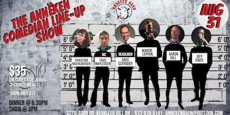 The Annëken Comedian Line-Up Show billets