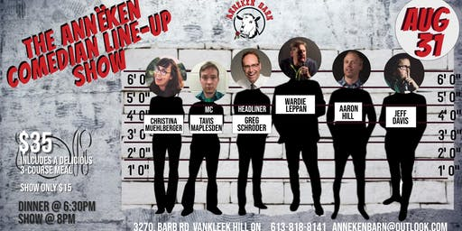 The Annëken Comedian Line-Up Show