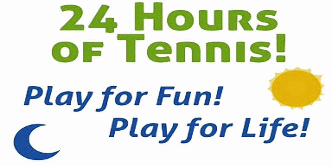 6th Annual 24 Hours of Tennis Fundraiser and Celebration-Saturday Sept 28th