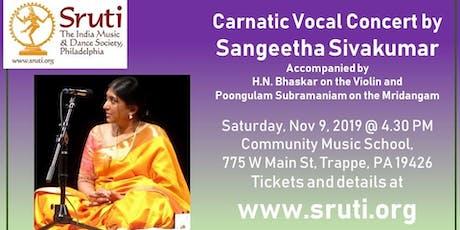 Sangeetha Sivakumar - Carnatic Music Concert tickets