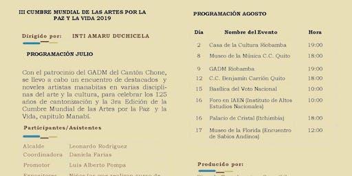 III CUMBRE MUNDIAL DE LAS ARTES POR LA PAZ Y LA VIDA