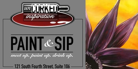 Paint & Sip | Purple Flower tickets