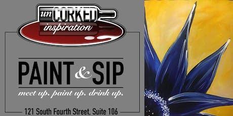 Paint & Sip | Blue Flower tickets