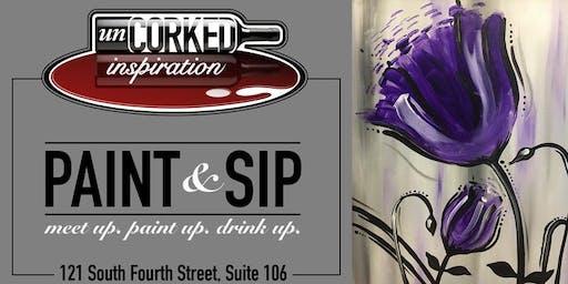 Paint & Sip | Loud Purple Flower