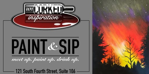Paint & Sip | Forest Fire