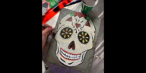 Sugar Skull: LaPlata, Greeene Turtle with Artist Katie Detrich!