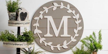 Monogrammed Wreath Workshop tickets
