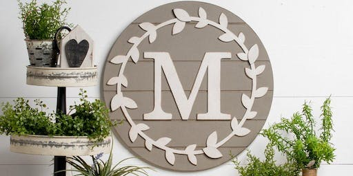 Monogrammed Wreath Workshop