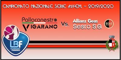 Pallacanestro Vigarano vs Allianz Geas Sesto S.G.