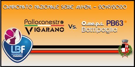 Pallacanestro Vigarano vs O.me.p.s. Givova Battipaglia biglietti