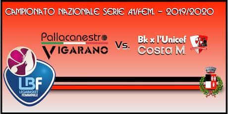 Pallacanestro Vigarano vs Basket x l'Unicef Costa Masnaga biglietti