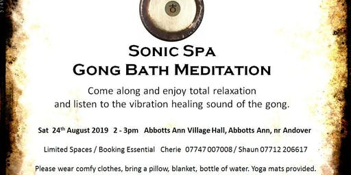 Sonic Spa Gong Bath Meditation - 24th August 2019