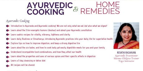 Ayurvedic cooking & home remedies tickets