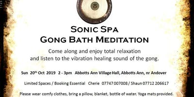 Sonic Spa Gong Bath Meditation - 20th October 2019