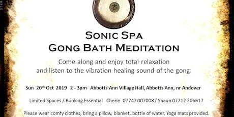 Sonic Spa Gong Bath Meditation - 20th October 2019 tickets