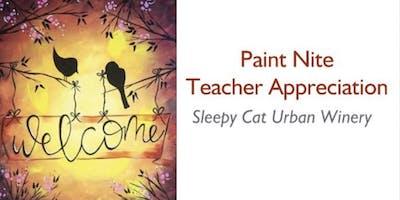 TEACHER Paint & Sip