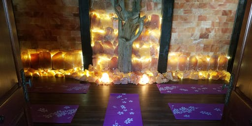 Restorative Yoga in Our Salt Cave