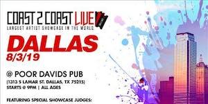 Coast 2 Coast LIVE Artist Showcase Dallas, TX - $50K...