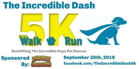 The Incredible Dash 5K tickets