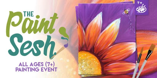 """All Ages Painting Event in Downtown Riverside, CA - """"Buzzin' Blooms"""""""