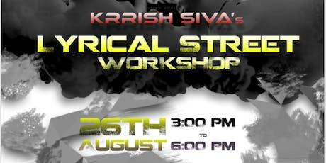 Krrish Siva's Lyrical Street Dance Workshop tickets