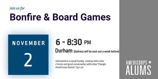 Bonfire & Board Games with AmeriCorps Alums